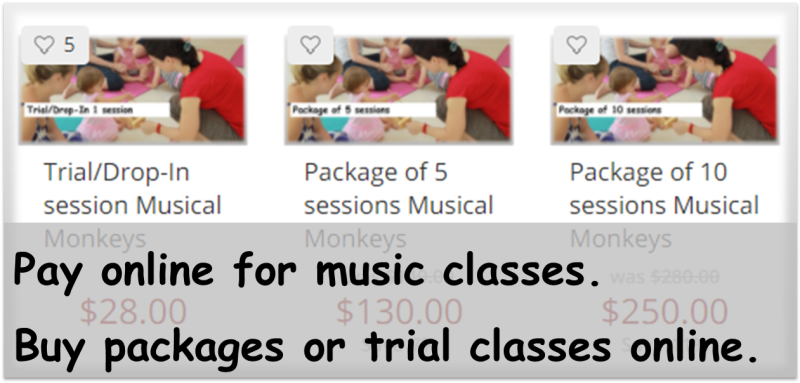 Pay online for music classes. Buy packages or trial classes online.