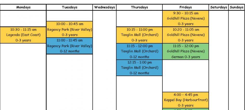 Class Schedule (Find a Class)